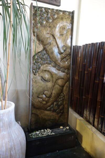 Xxl Buddha Relief Brunnen 200cm Wasserspiel Lava Stein Wasserwand