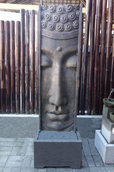 XL Buddha Relief Brunnen 180cm Wasserspiel Lava Stein Teich Wasserwand Wasserfall