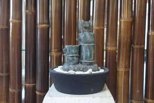 Bambus Lava Stein Wasserbrunnen Zimmerbrunnen Feng Shui Buddha Tischbrunnen