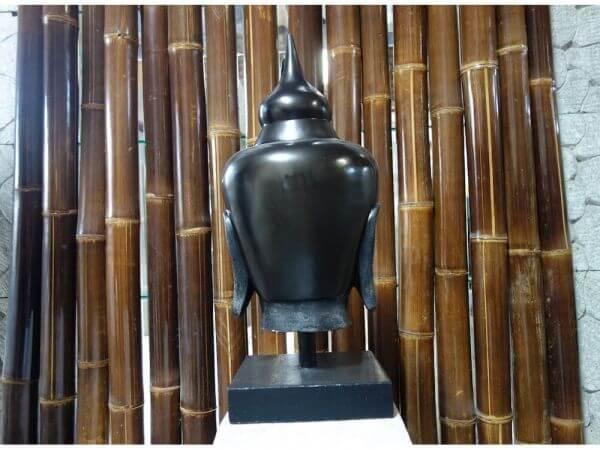 Buddha Kopf Lavastein Feng Shui Zen Stein Skulptur K029