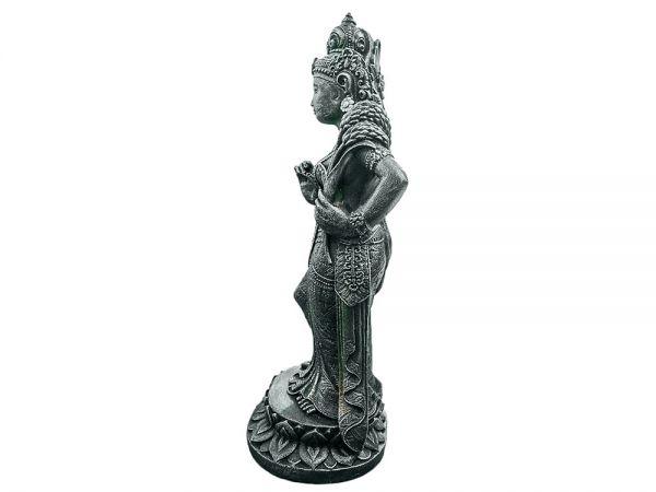 Dewi Shiva Buddha Skulptur aus Lavasandstein