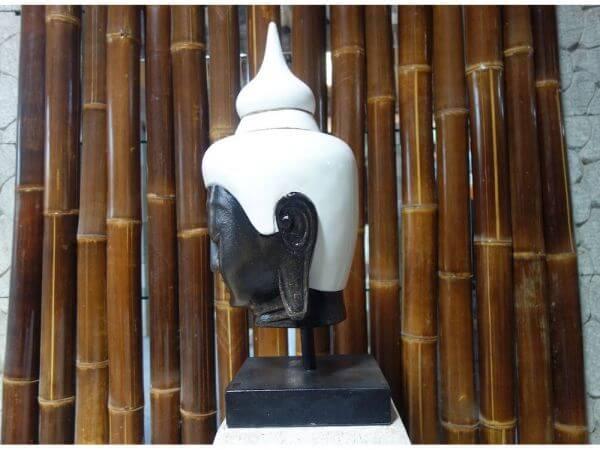 Buddha Kopf Lavastein Feng Shui Zen Stein Skulptur K030