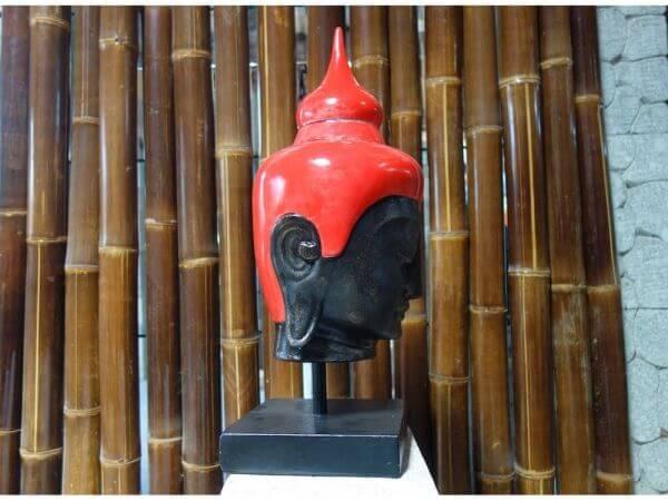 Buddha Kopf Lavastein Feng Shui Zen Stein Skulptur K031