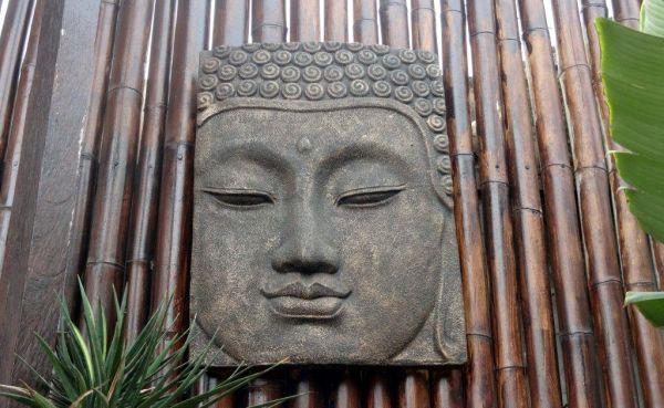 Buddha Kopf Deko.Buddha Kopf Gesicht Wandrelief Figur Lavastein Antik Asian Deko K039