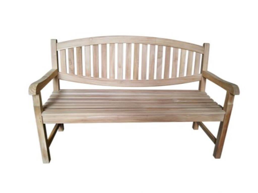 Gartenmöbel Teakholz 150x61cm Gartenbank Teak Holz Bank Massiv Anna Di2907