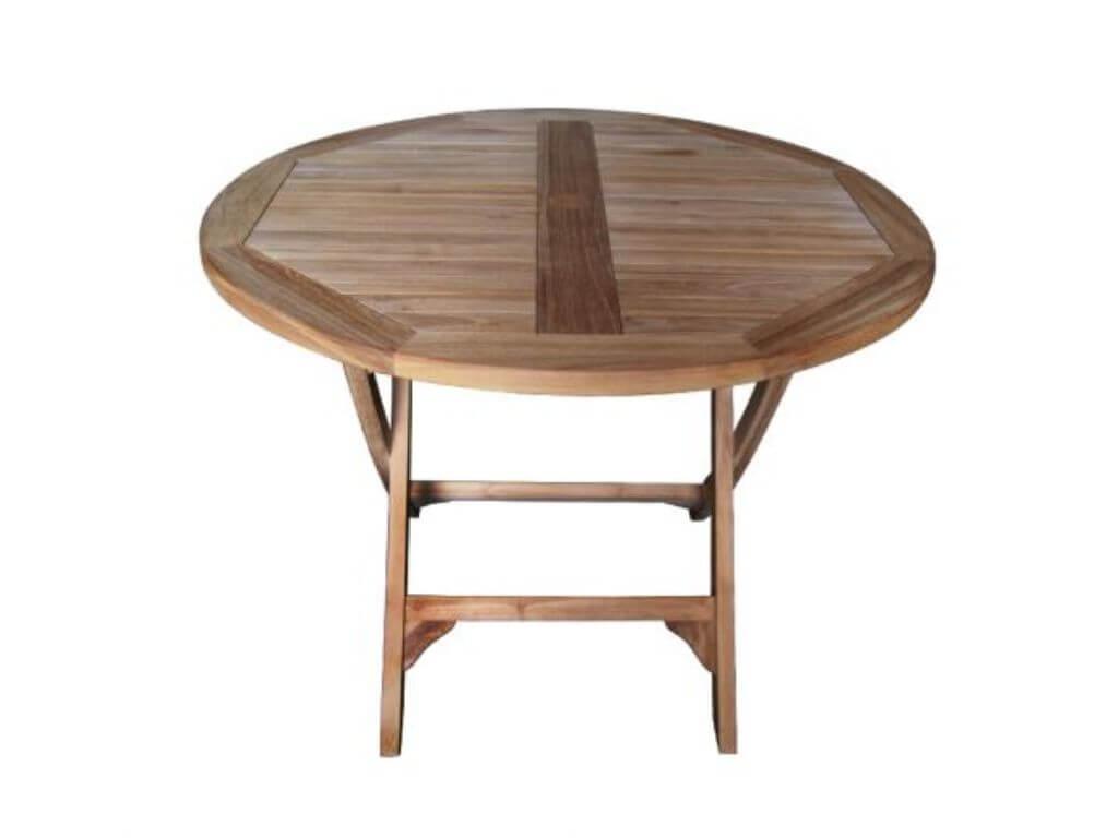 Gartenmobel Teakholz Gartentisch 120x120 Cm Runde Tisch Teak Massiv