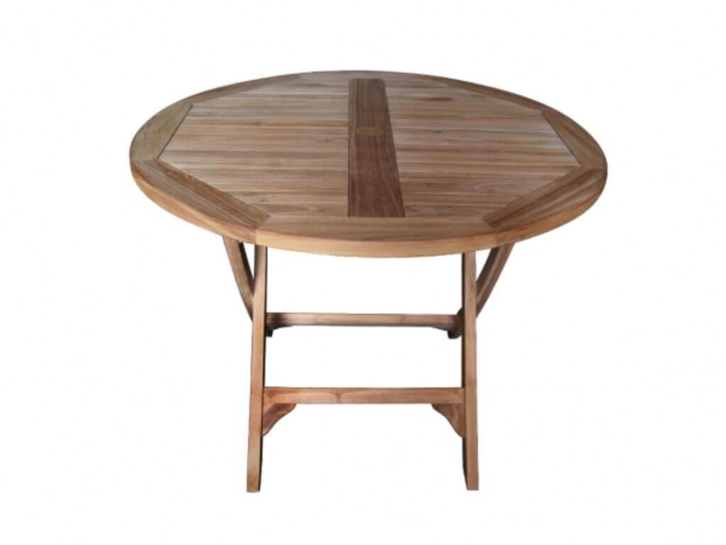 Teakholz tisch massiv  Gartenmöbel Teakholz Gartentisch 80 cm rund Tisch massiv Emma DI2923 ...