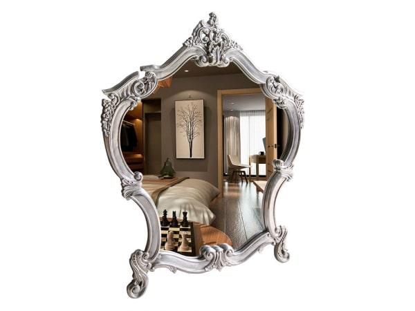 Spiegel Claudia Mahagoni Barockstil Silber
