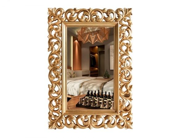 Spiegel Carla Barock Stil Mahagoni Gold