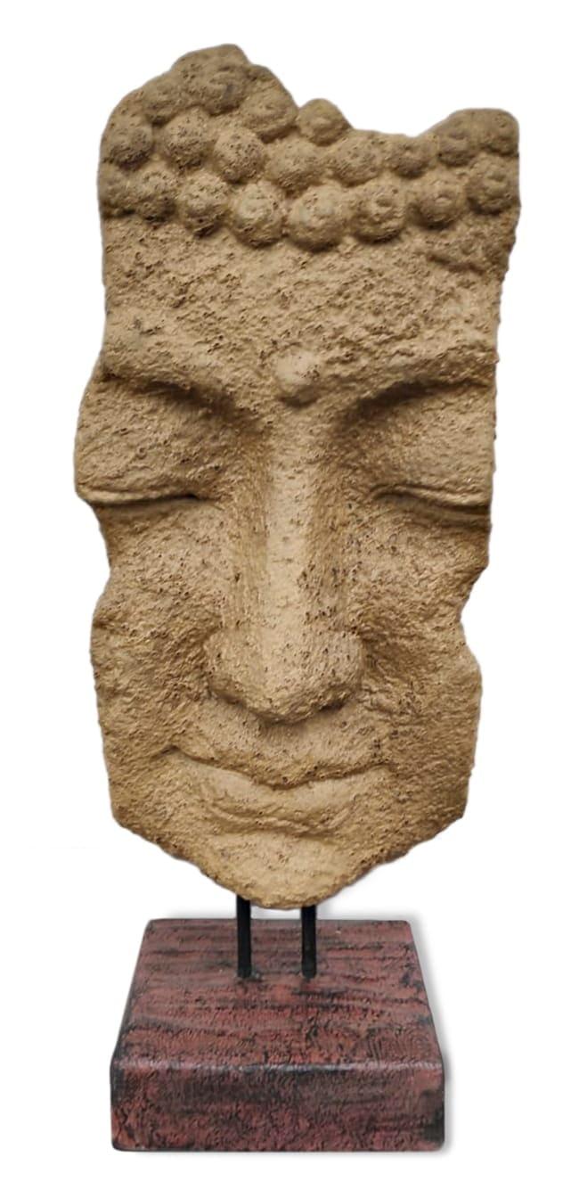 k055 buddha gesicht stein statue skulptur asie steinfigur deko 4