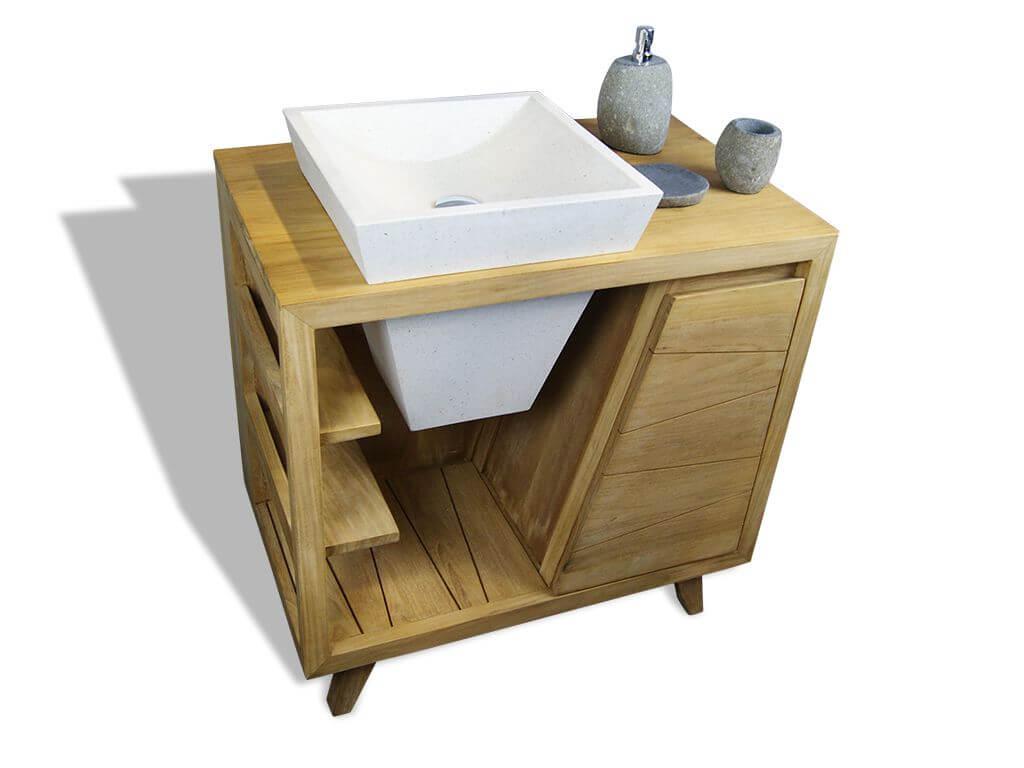 badm bel teak holz unterschrank badezimmer waschtisch diana single. Black Bedroom Furniture Sets. Home Design Ideas