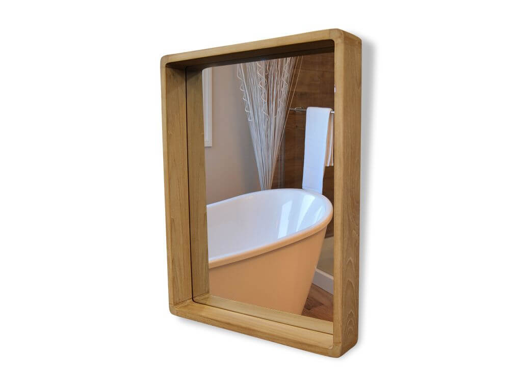 Spiegel Luzia Teakholz Wandspiegel Holzrahmen Badezimmer