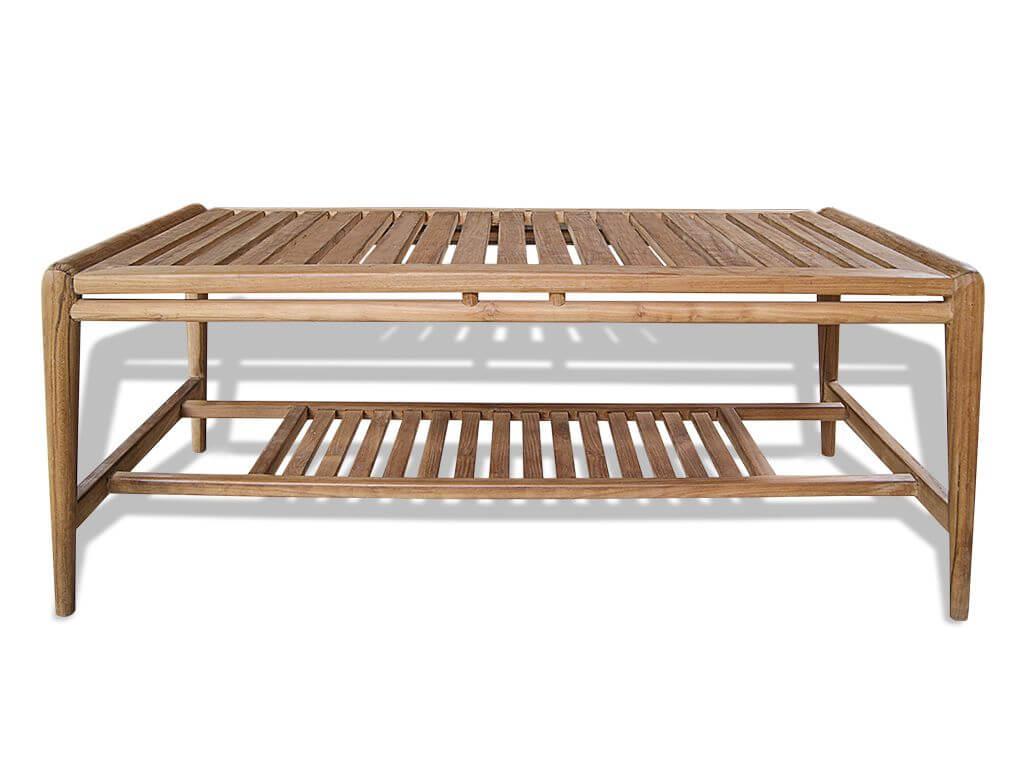 Gartentisch Cameo Bodentisch Wohnzimmer Teak Holz Lounge