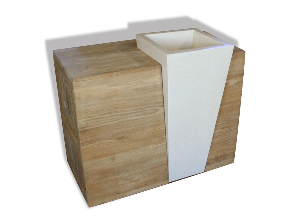 rbm2475 massivholz teakholz badezimmer 100cm waschbecken waschtisch milano 56 1